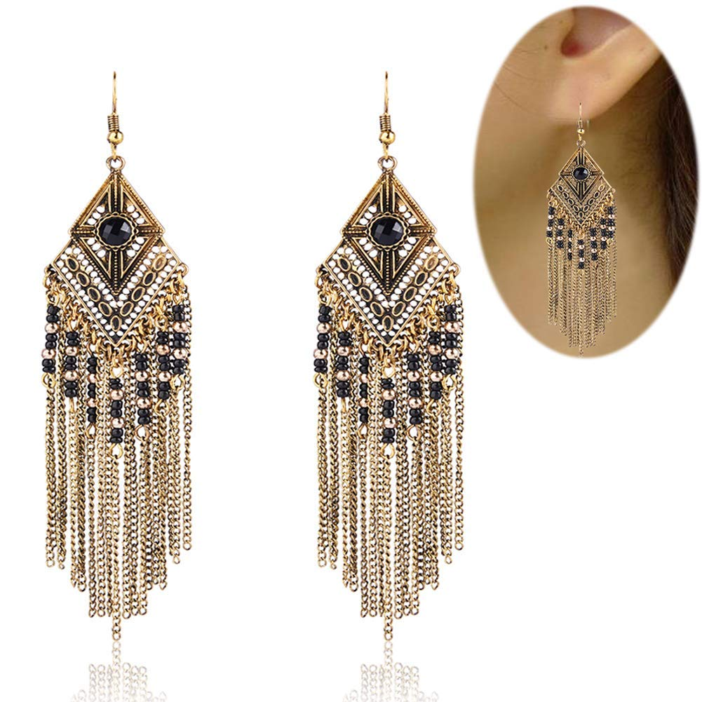 Tassel Dangle Drop Bohemian Earrings