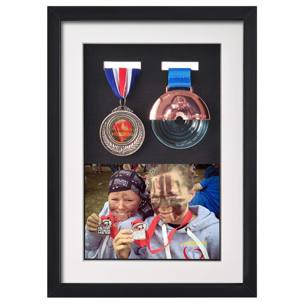 Multifunctional Dustproof A4 Black Medal Display Frame, Shadow Box Frame
