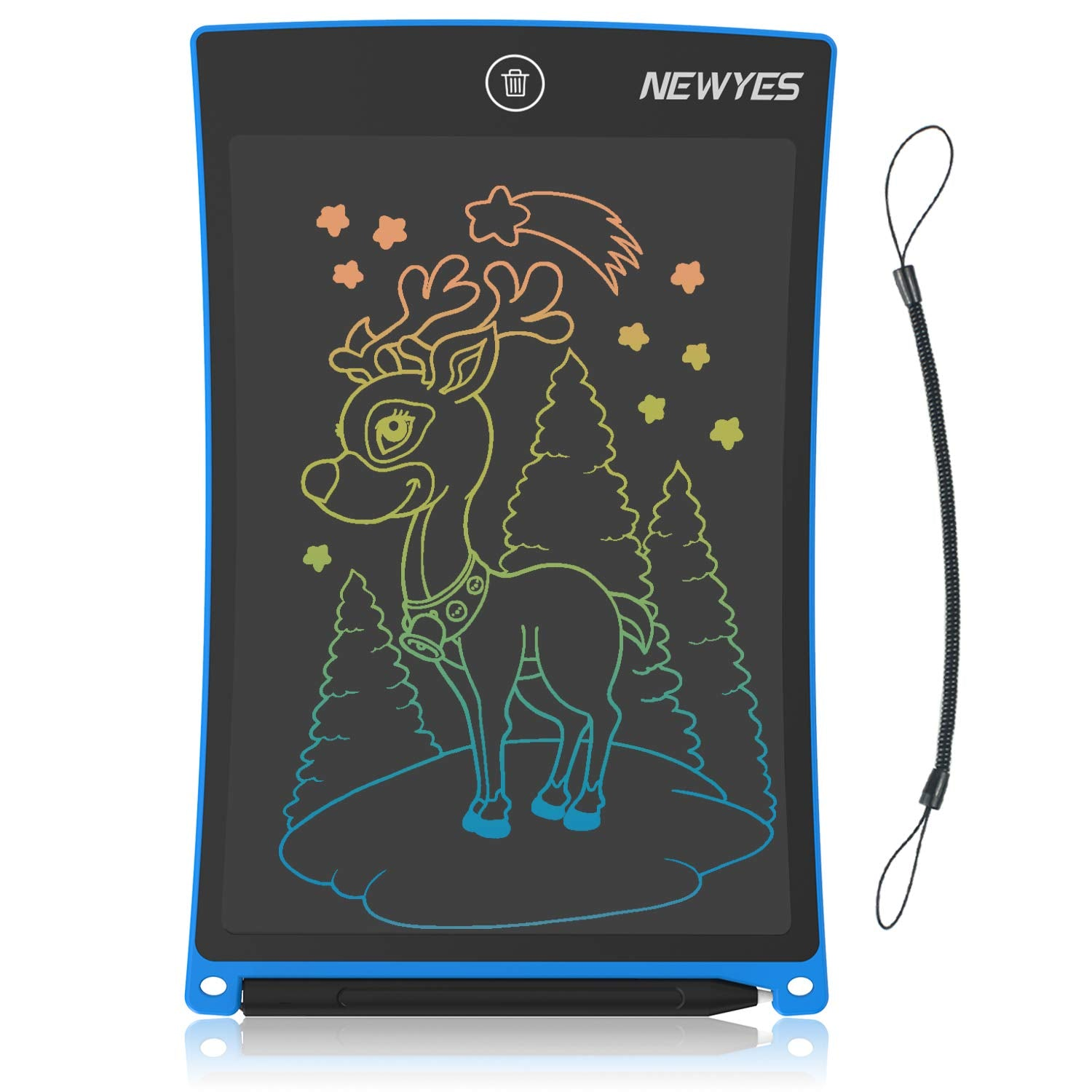 LCD Writing Tablet, NEWYES 8.5Inch Colorful Screen Drawing Doodle Board