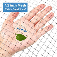OGORI 14 x 20 ft Pond Netting Bird Netting with 14 Heavy-Duty Steel Garden Staples Stakes,Reusable and Doesn't Tangle - Protective Netting Against Birds,Deer and Other Animals