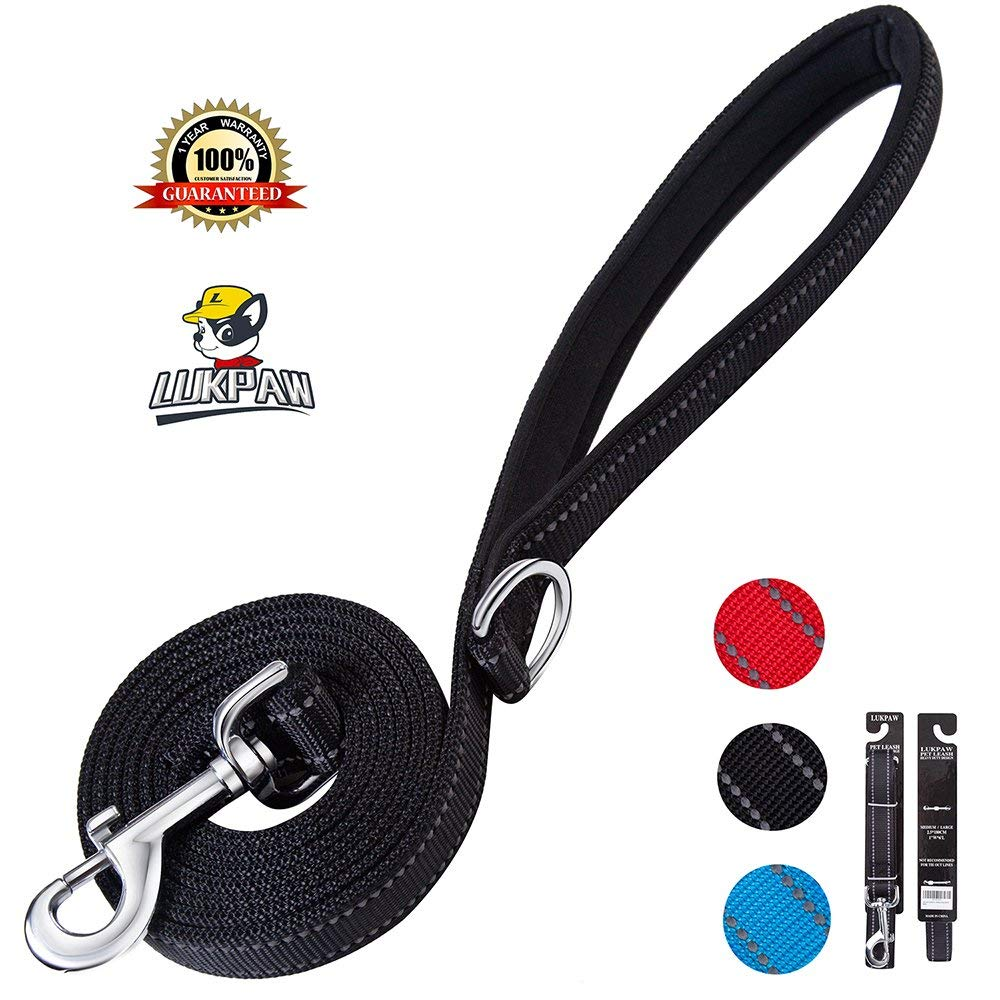 LukPaw Reflective Dog Leash 6ft tough durable, 2layers
