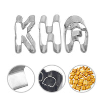 Lumon Alphabet Cookie Cutters A-Z Set of 26 Plain Edge Stainless Steel Non-Stick DIY Biscuit Mold