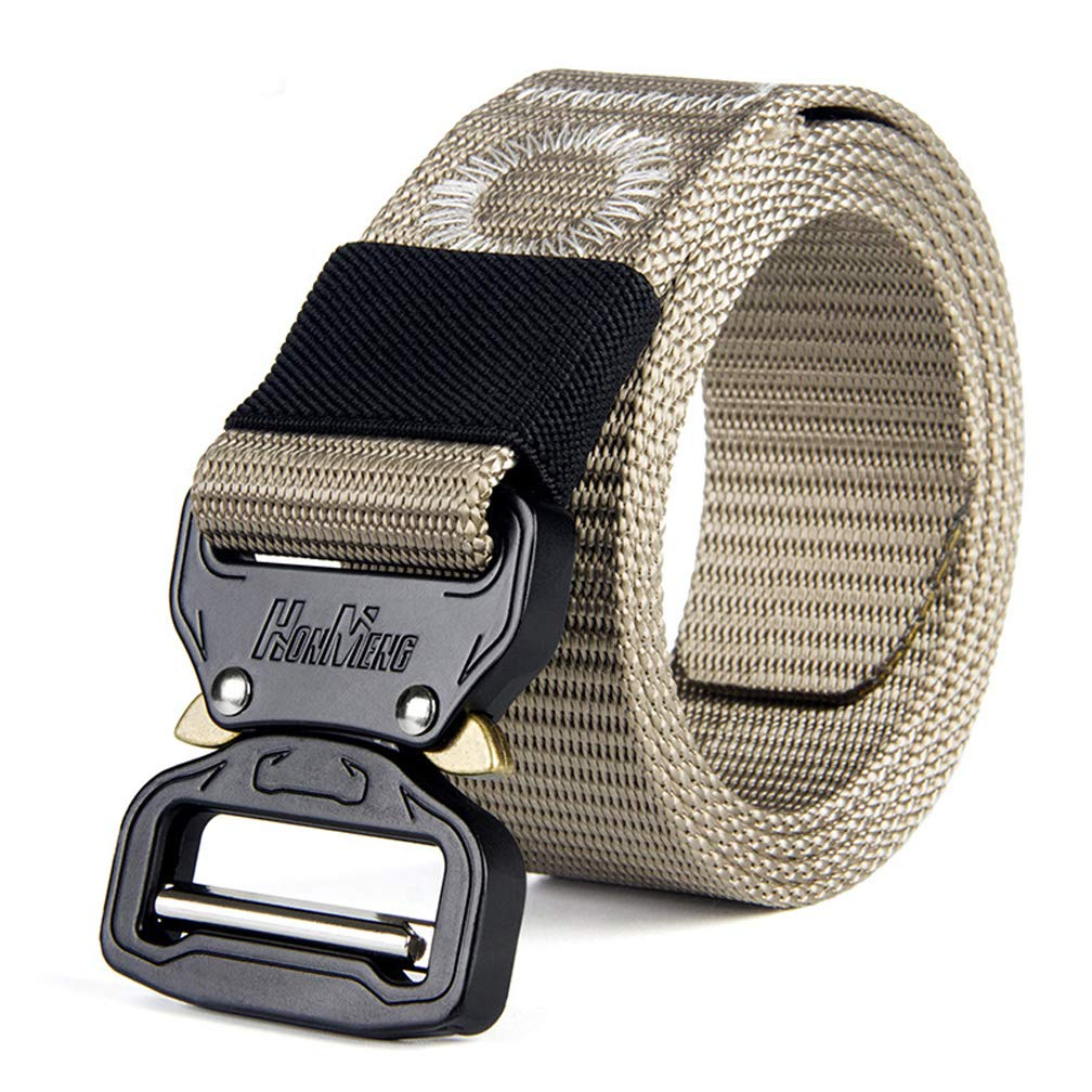 Tactical Belt for Men Adjustable Nylon Military Webbing Belt with Heavy Duty Quick Release Buckle 1-1/2
