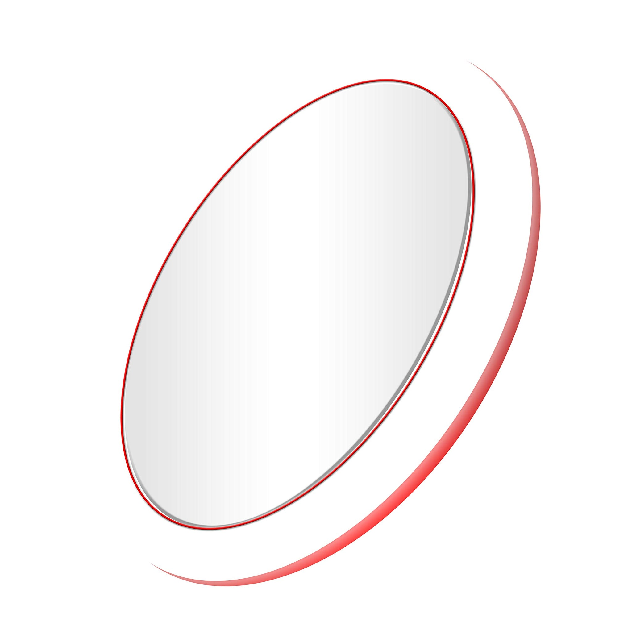 Mirrex Portable Lighted Makeup Mirror with Wireless Charging base for IOS and Andriod Phone, Vanity Mirrors with LED Lights, Professional Cosmetic Mirror for Travel, Skin Care Prefect for Women (Red)