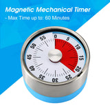 "Round 2.3"" Visual Analog Countdown Timer Kids Mini 60 Minute Clock Mechanical Magnetic For Kid Kitchen Homeworks Housework Classroom Cooking Baking Games. (Blue Color)"