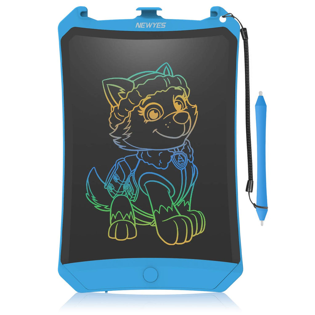 WOBEECO LCD Writing Tablet, 8.5 Inch Electronic Writing Board Doodle and Scribble Board Magnetic Memo Notes for Kid & Adults (Blue(Colorful))