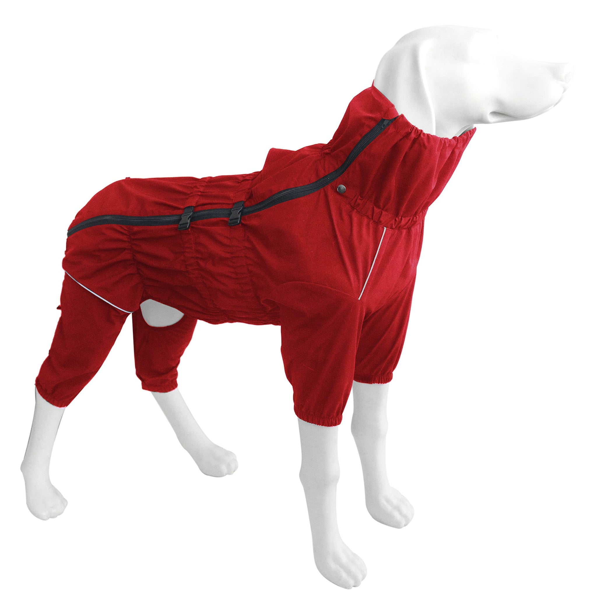 Dr.NONO Dog Raincoat with Zipper and Reflective Strip,Adjustable Waterproof Jacket,Breathable Dog Poncho for Medium Large Dog