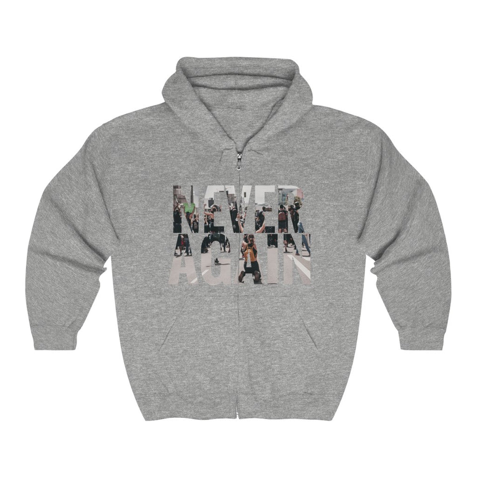 """ZIP HOODIE / COLLAB JXMXL - NEVER AGAIN PT.1"""