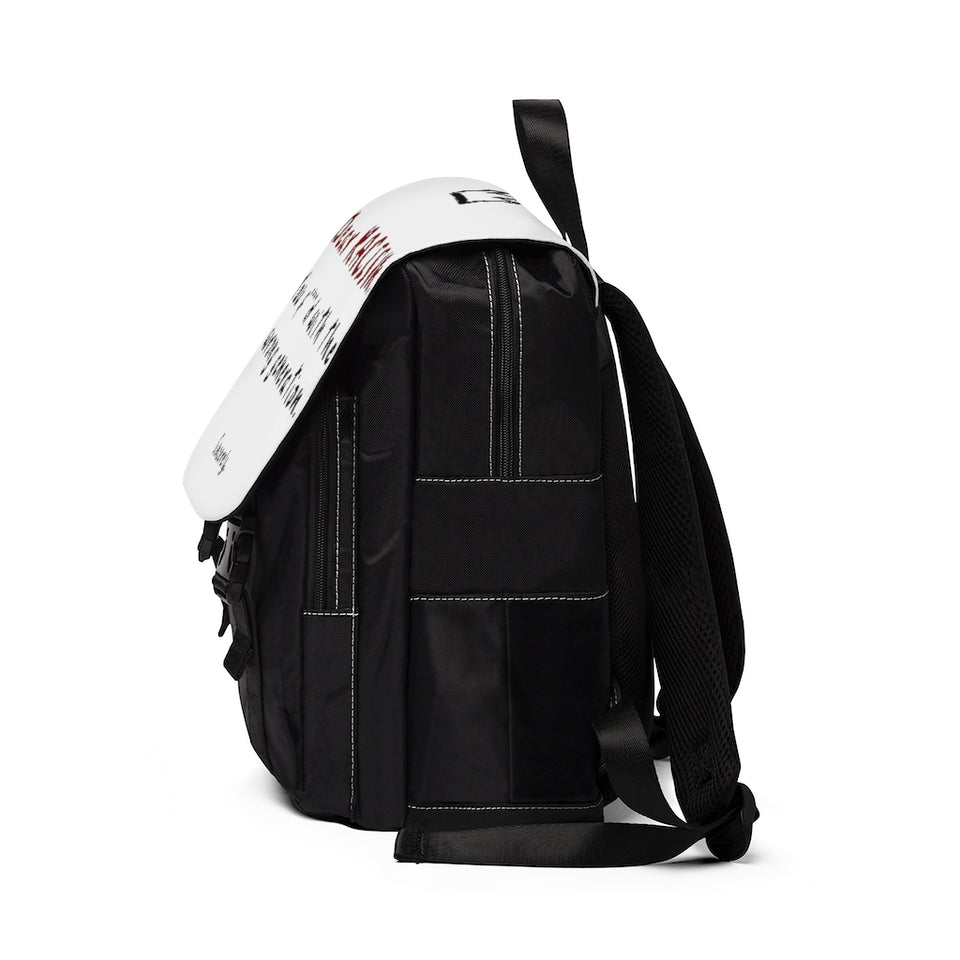 """CASUAL UNISEX BACKPACK / U F*** WITH THE WRONG GENERATION"""
