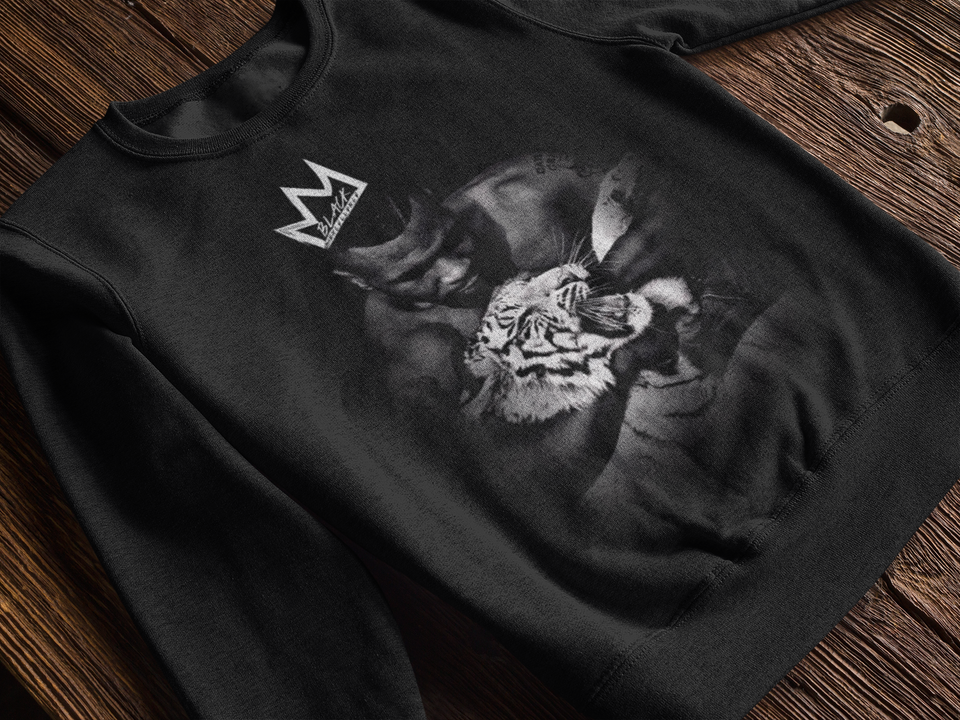 "CREWNECK SWEATER / ""MIKE TYSON TIGER CROWN"""