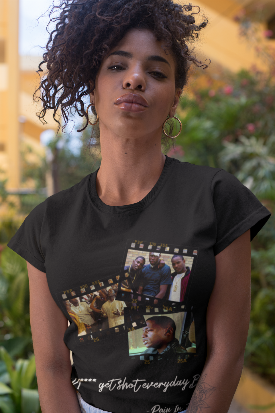 "UNISEX TEE / ""ICONIC BLACK MOVIES - PAID IN FULL"""