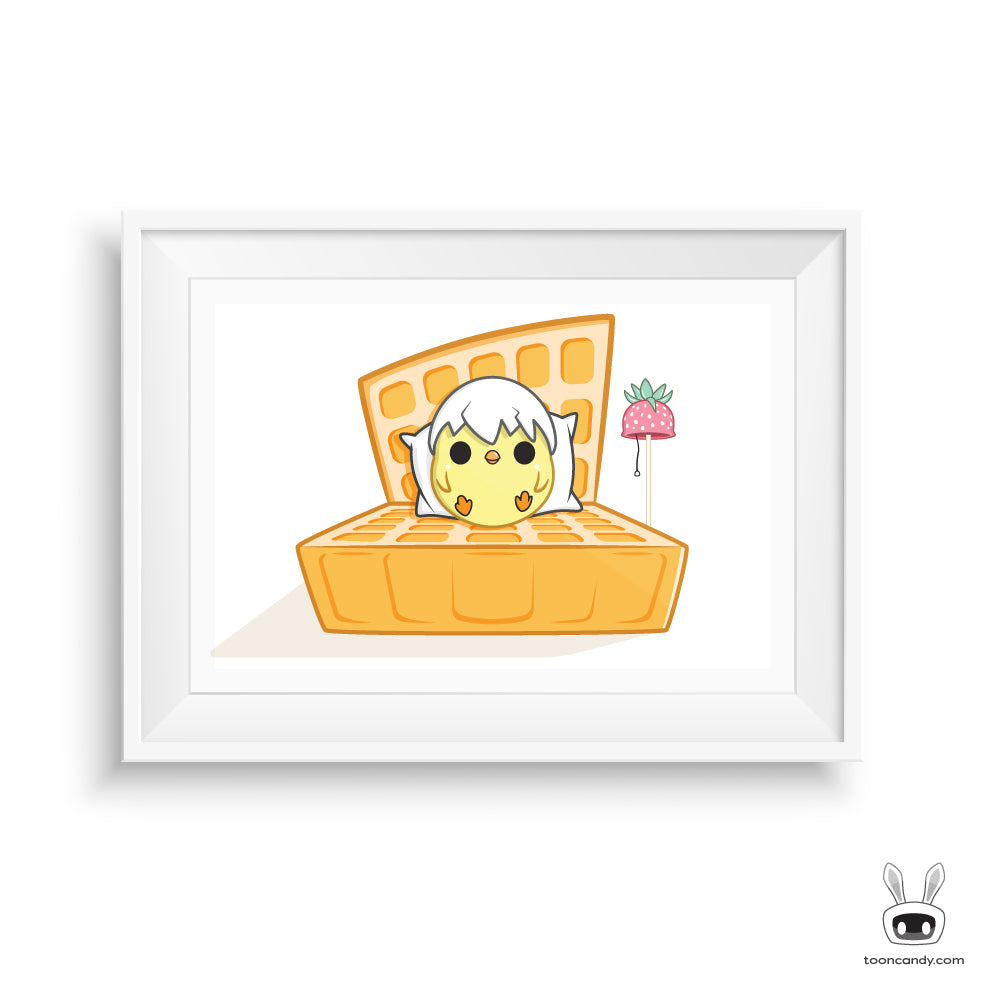 Chicken and Waffle Nursery Art Print