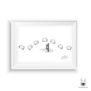 Counting Sheep Nursery Art