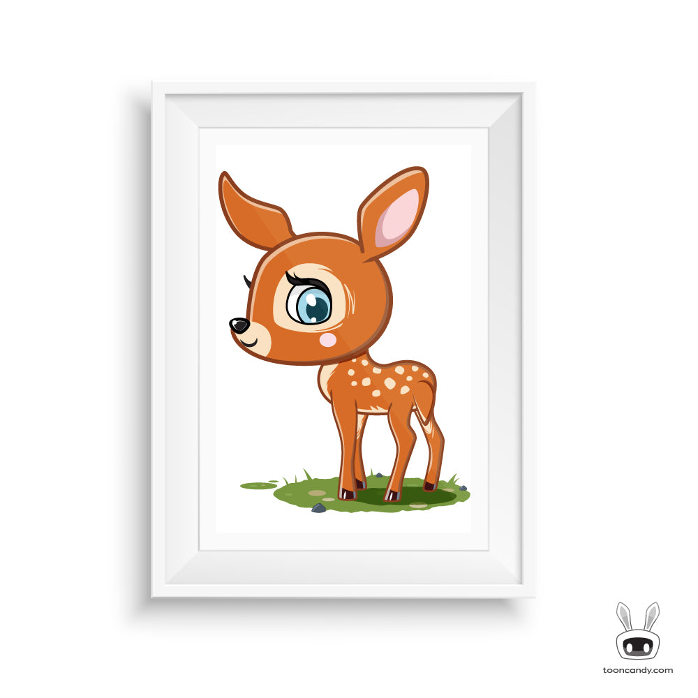 Baby Deer Nursery Art Print