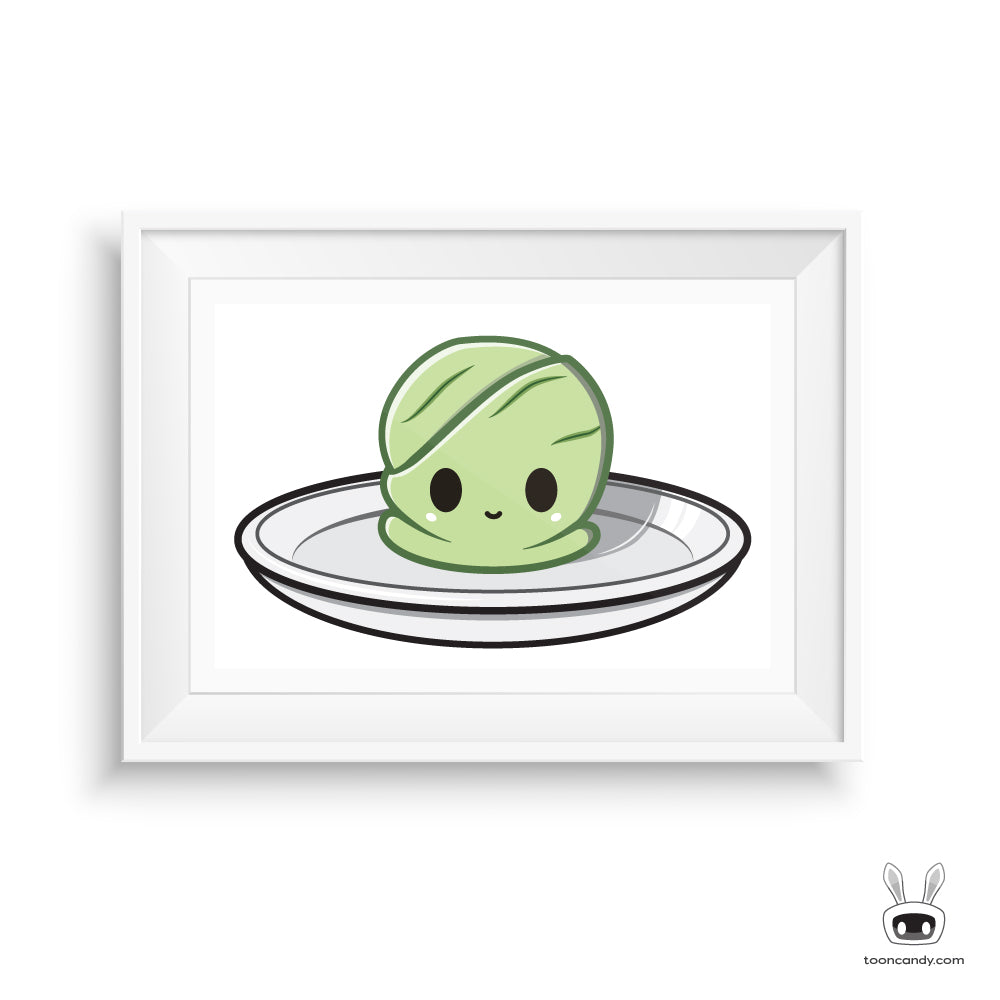 Green-Tea-Ice-Cream-Art-Print-Kawaii