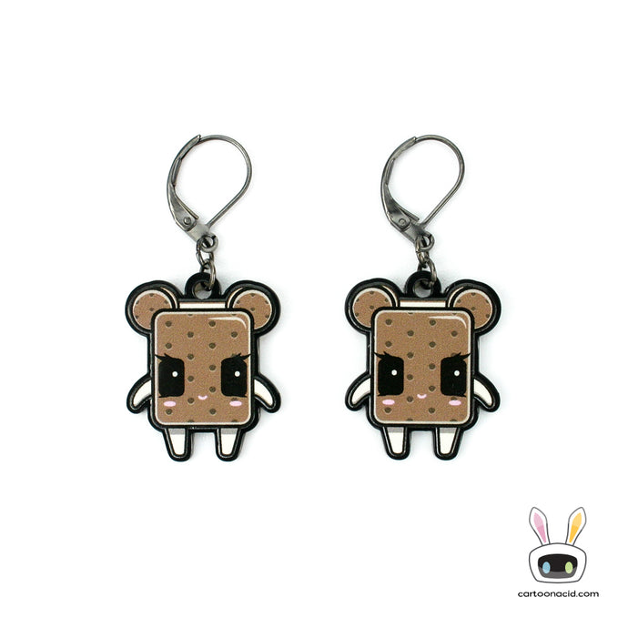 Ice Cream Sandwich Acrylic Earrings, Kawaii Jewelry