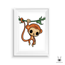 Monkey Business Nursery Art Print