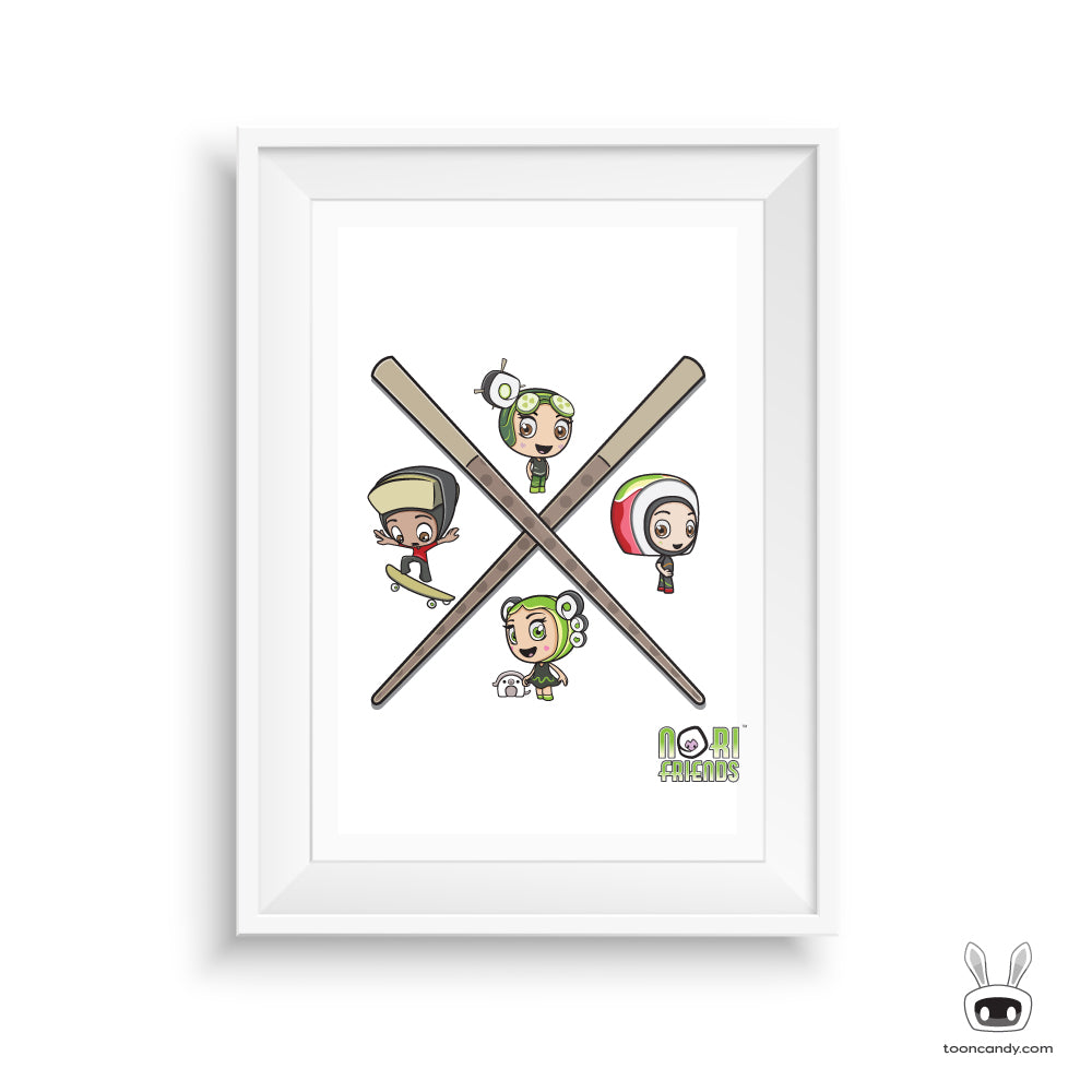 Nori-Friends-Chop-Sticks-Sushi-Art-Print