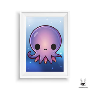 Octopus Print Underwater, Under the Sea Nursery