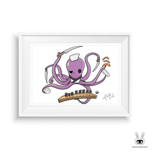 Octopus-Sushi-Chef-Sushi-Art-Print