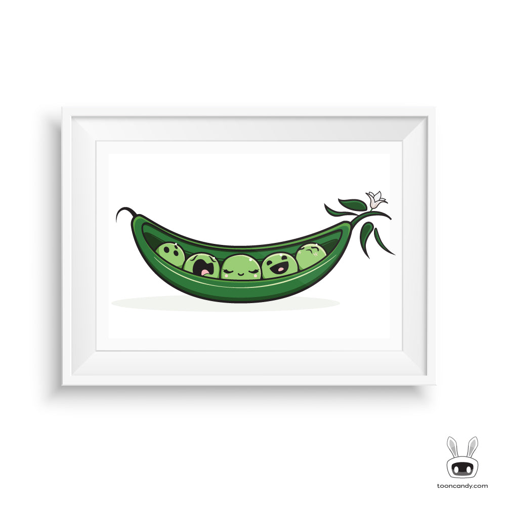 We're just like two peas in a pod Nursery Art Print