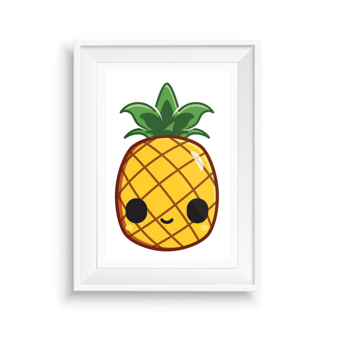 Pineapple-Art-Print-Kawaii