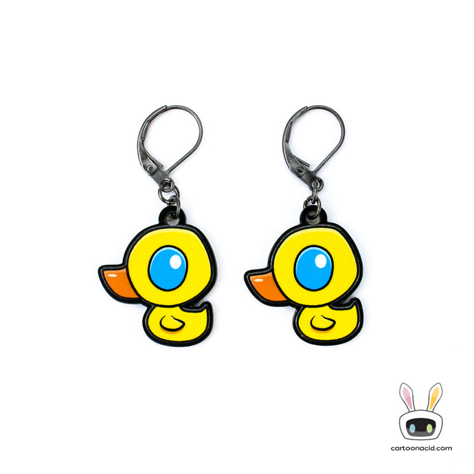 Rubber Duck Earrings Kawaii