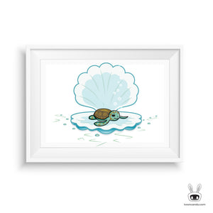 Sea-Turtle-Seashell-Nursery-Art