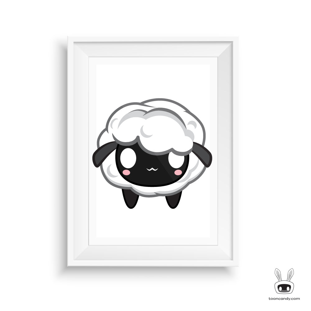 Sheep Nursery Print Decor