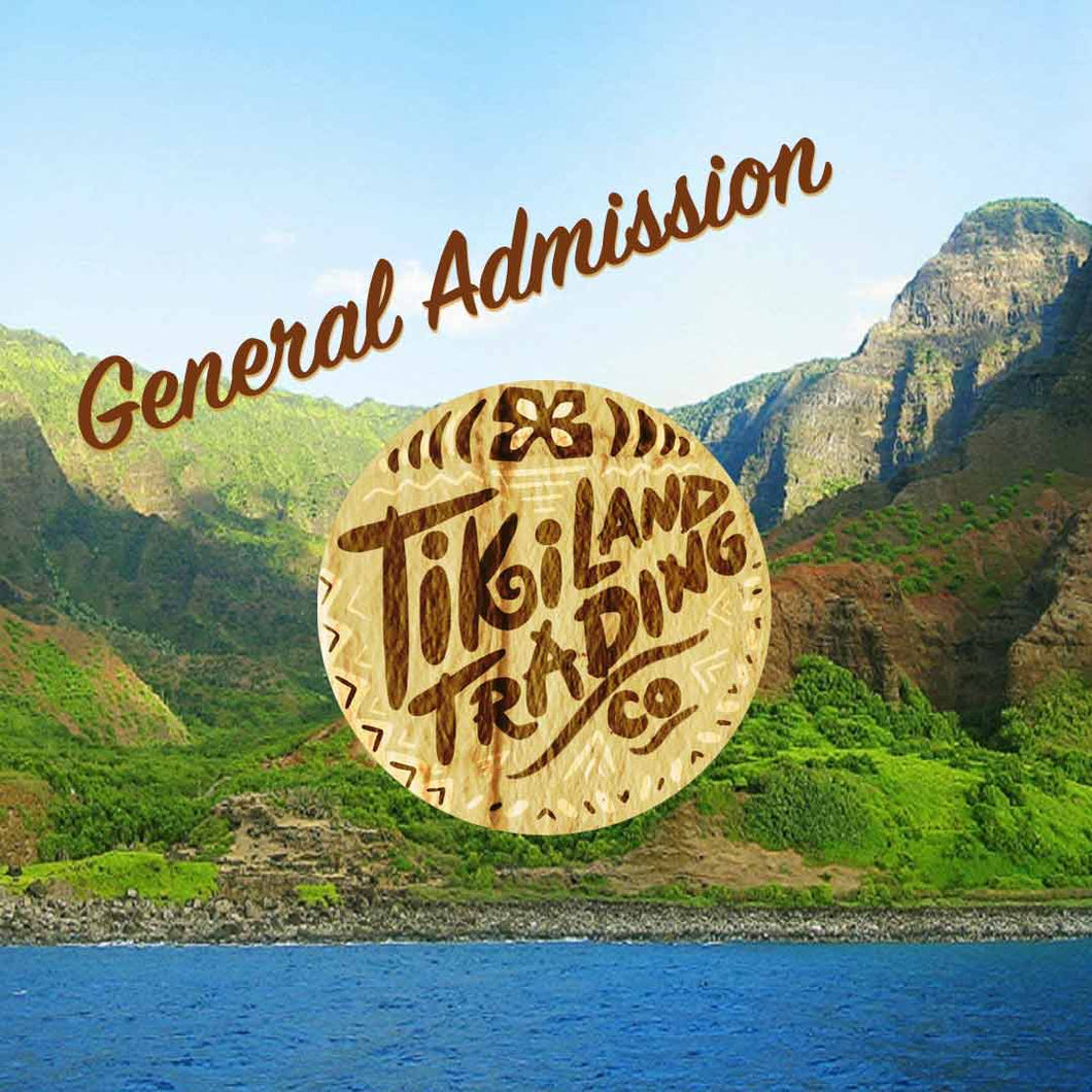 General Admission Ticket - TikiLand Trading Co. - June 15, 2019 - Heritage Museum of Orange County