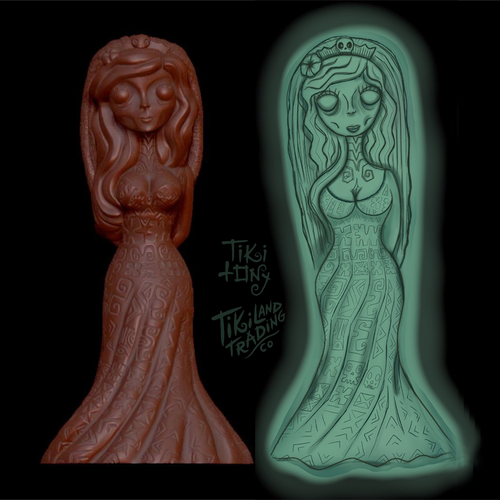 Tiki tOny's 'Hurry Back' Ghostly Bride Tiki Mug Pre-Sale - ships early2021* (US shipping included)