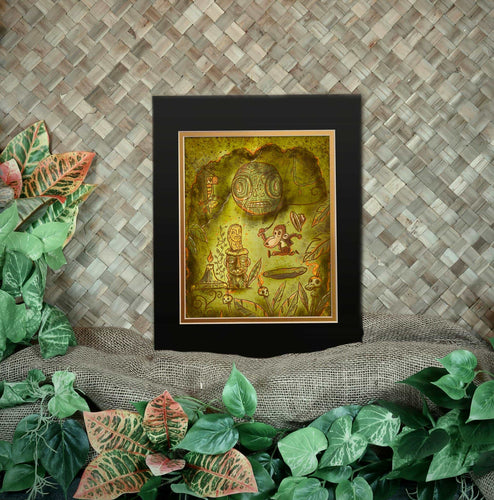 TikiLand Trading Co. 'Adventure Monkey and the Golden Idol' Print - Ready to Ship - (US shipping included)