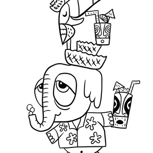 Free Coloring Page from Tiki tOny and TikiLand Trading Co. - May 2020