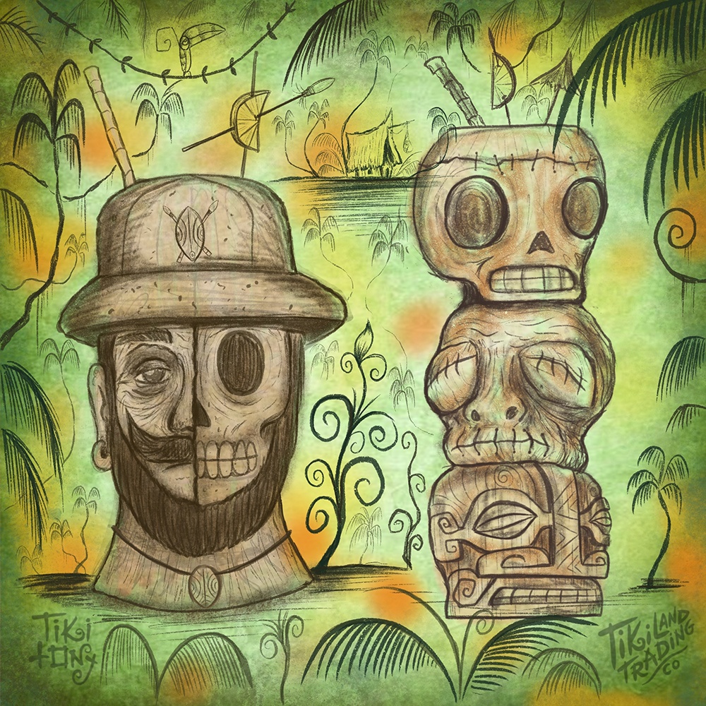 Tiki tOny's 'Lost Adventurer' + 'Head Stack' Tiki Mug Set Pre-Sale - Ships Early2021* (US shipping included)