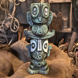 Tiki tOny's Tangaroa Tiki Baby BLUE Tiki Mug - includes domestic US shipping, others extra
