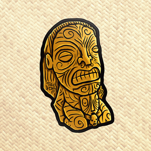 TikiLand Trading Co. 'Cannibal of Doom' - Vinyl Sticker - Ships May 2021 (US shipping included)