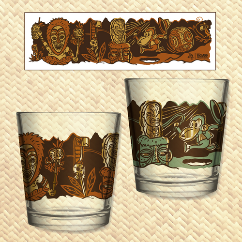 TikiLand Trading Co. 'Cannibal of Doom' - Mai Tai Glasses Set (2) - Ships June 2021 (US shipping included)