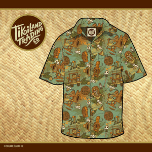 TikiLand Trading Co. 'Cannibal of Doom' - Unisex Aloha Shirt - Ships July 2021 (US shipping included)