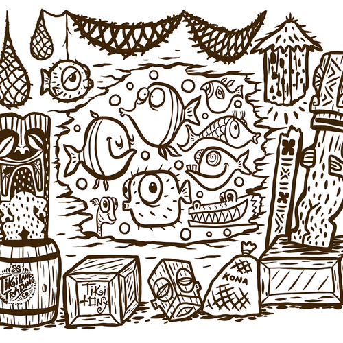 Free Coloring Page from Tiki tOny and TikiLand Trading Co. - April 2020