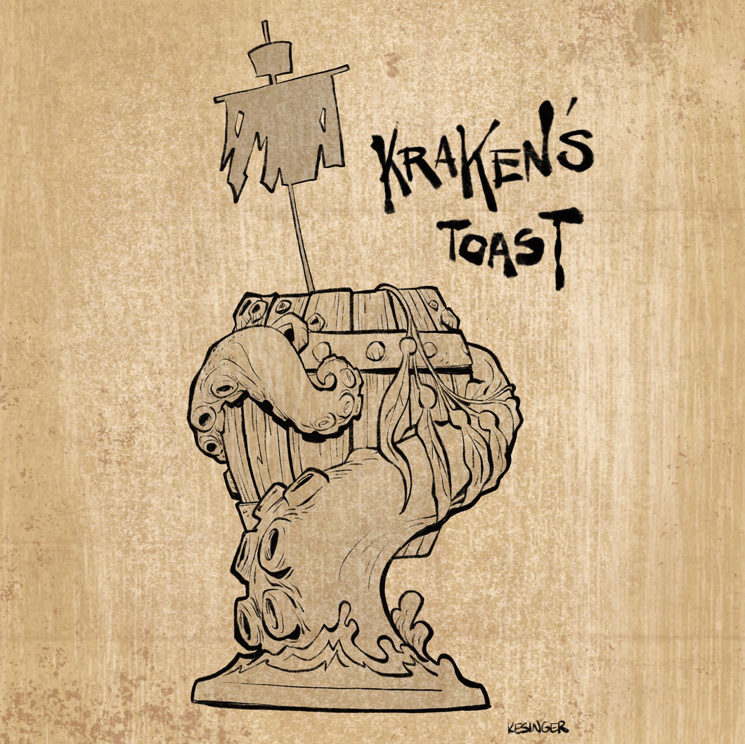 Kraken's Toast Tiki Mug, designed by Brian Kesinger - Coming Soon