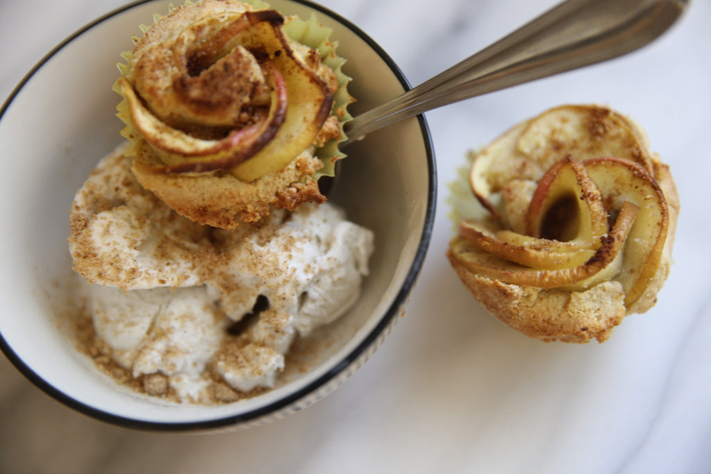 Apple Roses, NadaMoo vanilla ice cream, and Pumpkin Spice - Oh My!