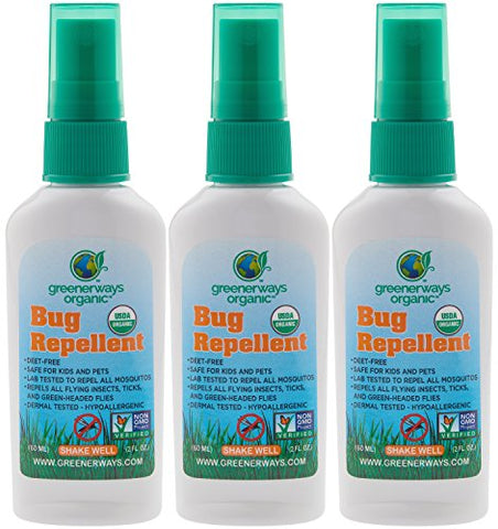 Organic Insect Repellent Travel Size - 3 Pack