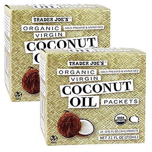 Organic Coconut Oil Packets, 2-Pack (28 packets)