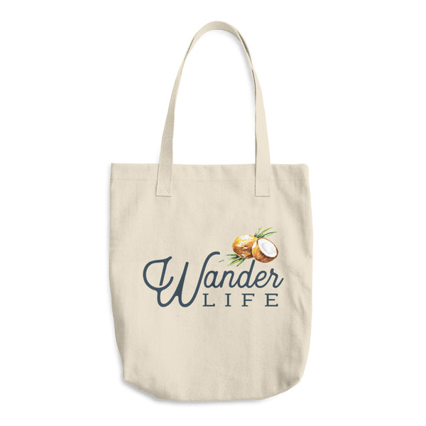 Wander Life Cotton Tote Bag