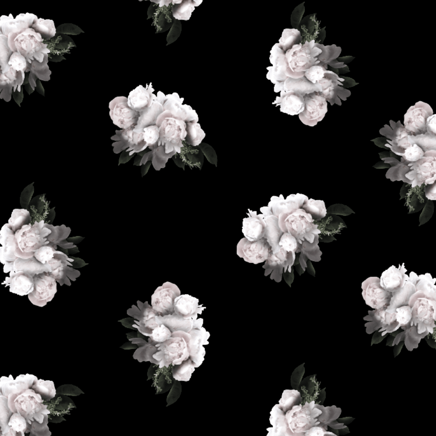 Peonies Wallpaper in Noir