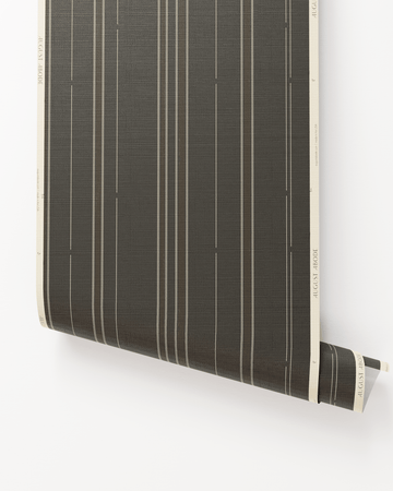 New! Toluca Stripe II Grasscloth Wallpaper in Nocturne