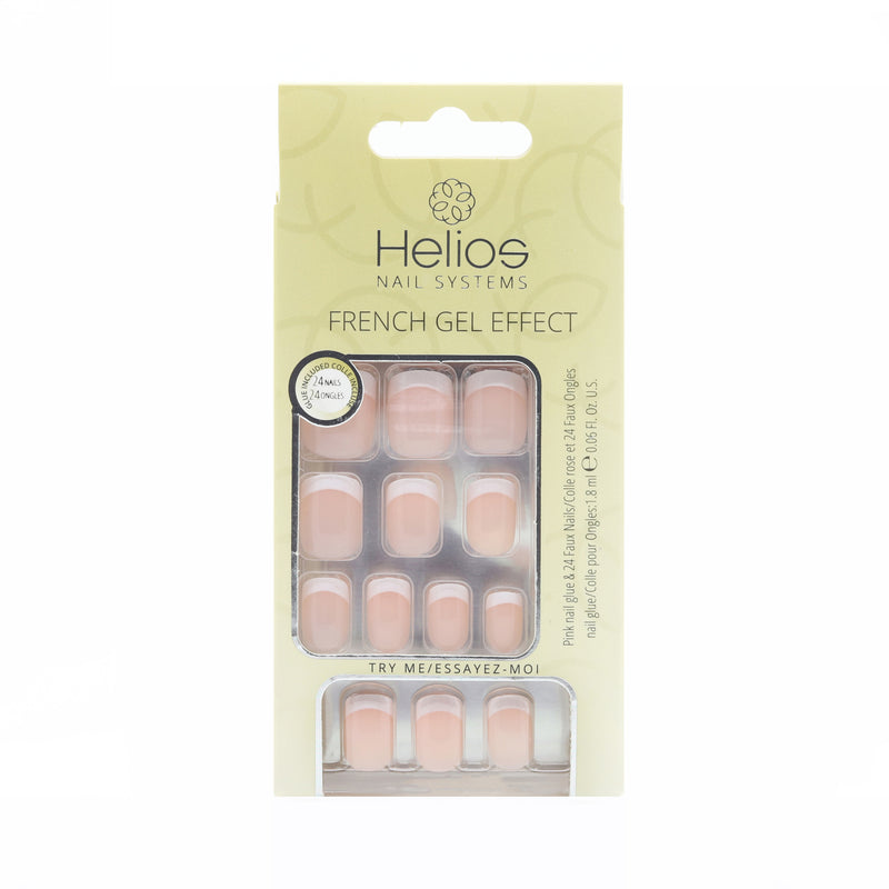 FRENCH GEL EFFECT ARTIFICIAL NAILS