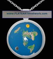 MINIATURE FLAT EARTH MODEL, w/ Necklace Chain