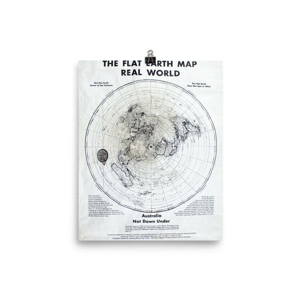 Flat earth maps flatearthnetwork the flat earth map of the real world poster gumiabroncs Gallery