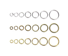 1 Box(1450PCS) Assorted Sizes3mm/4mm/5mm/6mm/7mm/8mm/10mm Jewelry Making Findings Kit Open Jump Rings for Necklace Bracelet Anklet DIY Using (Golden)